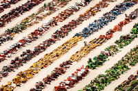 Colorful Tractors Aerial Photo John A Ferrante-0004